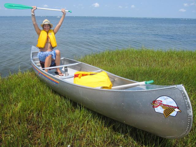 Johanna Björk: 100811: Fire Island Camping: Canoeing