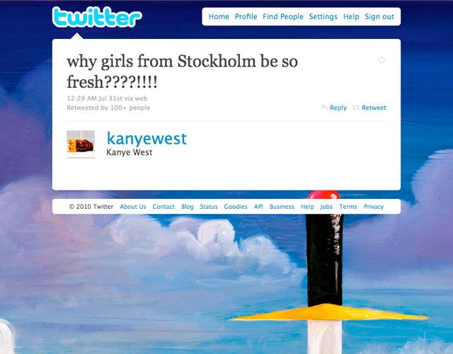 Johanna Björk: 100825: Kanye tweet