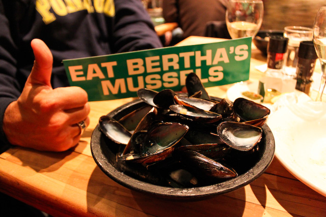Concrete Flower: 110328: Eat Bertha's Mussels